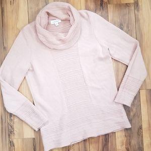 CK Calvin Klein Blush Pink Cowl neck Sweater